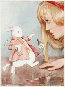 Alice_in_Wonderland_pg41_-_Alice_meets_the_White_Rabbit_-_by_Margaret_Winifred_Tarrant_1916
