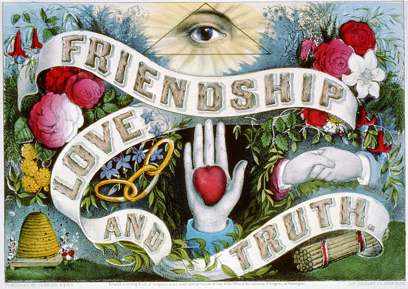 Friendship Love and Truth by Currier and Ives