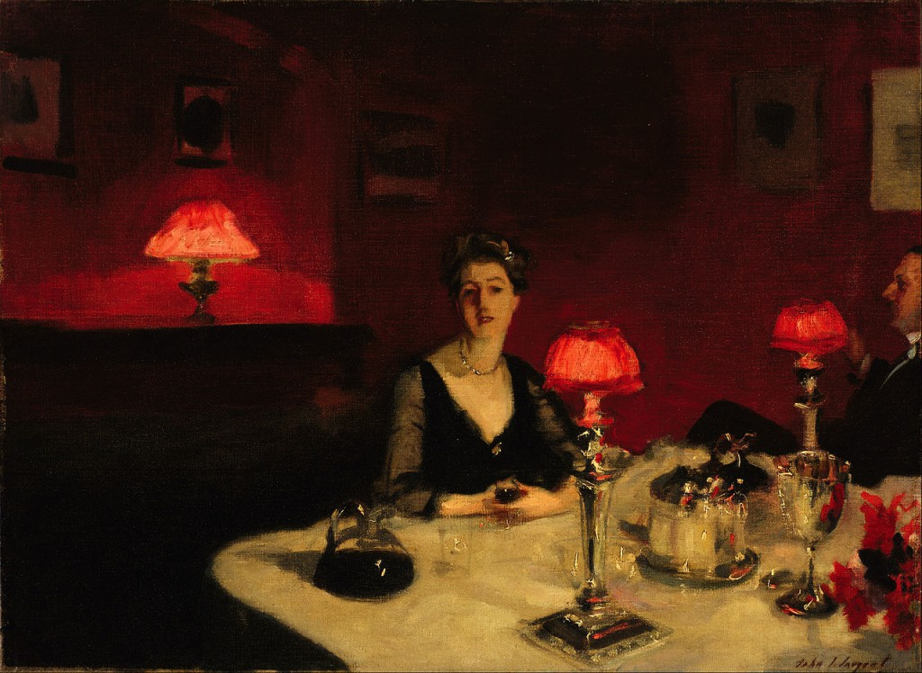 A Dinner Table at Night by John Singer Sargeant