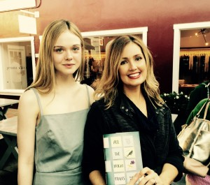 Elle Fanning and Jennifer Niven