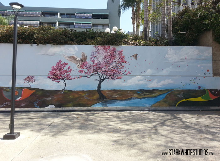 This is one of Jason's murals. It was done in La, California.