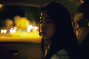 car sad down uncertain girl