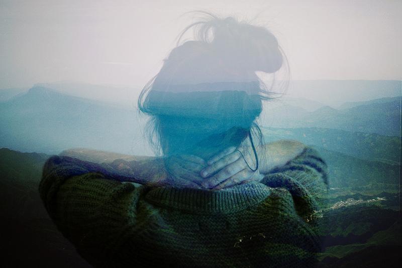 stress emotions haze mountains back