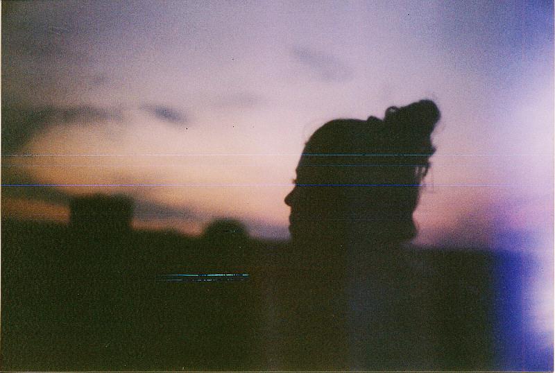 profile hazy silhouette night