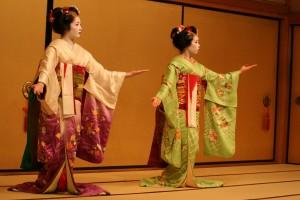 maiko, dance, Gion, Kyoto, geisha