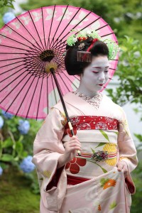 maiko, temple, Japan, geisha