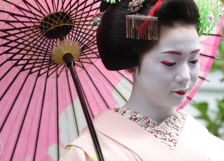 maiko, temple, Japan, geisha