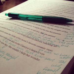 green pen revise
