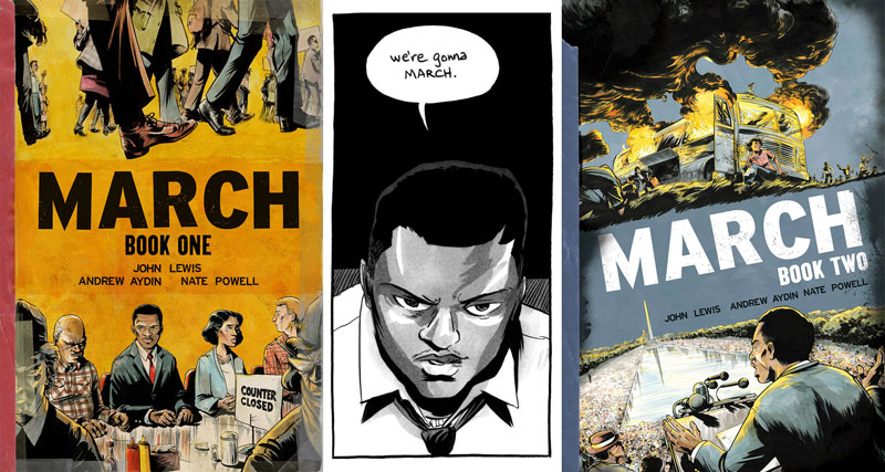 Review of March: Book One and March: Book Two by John Lewis and ...