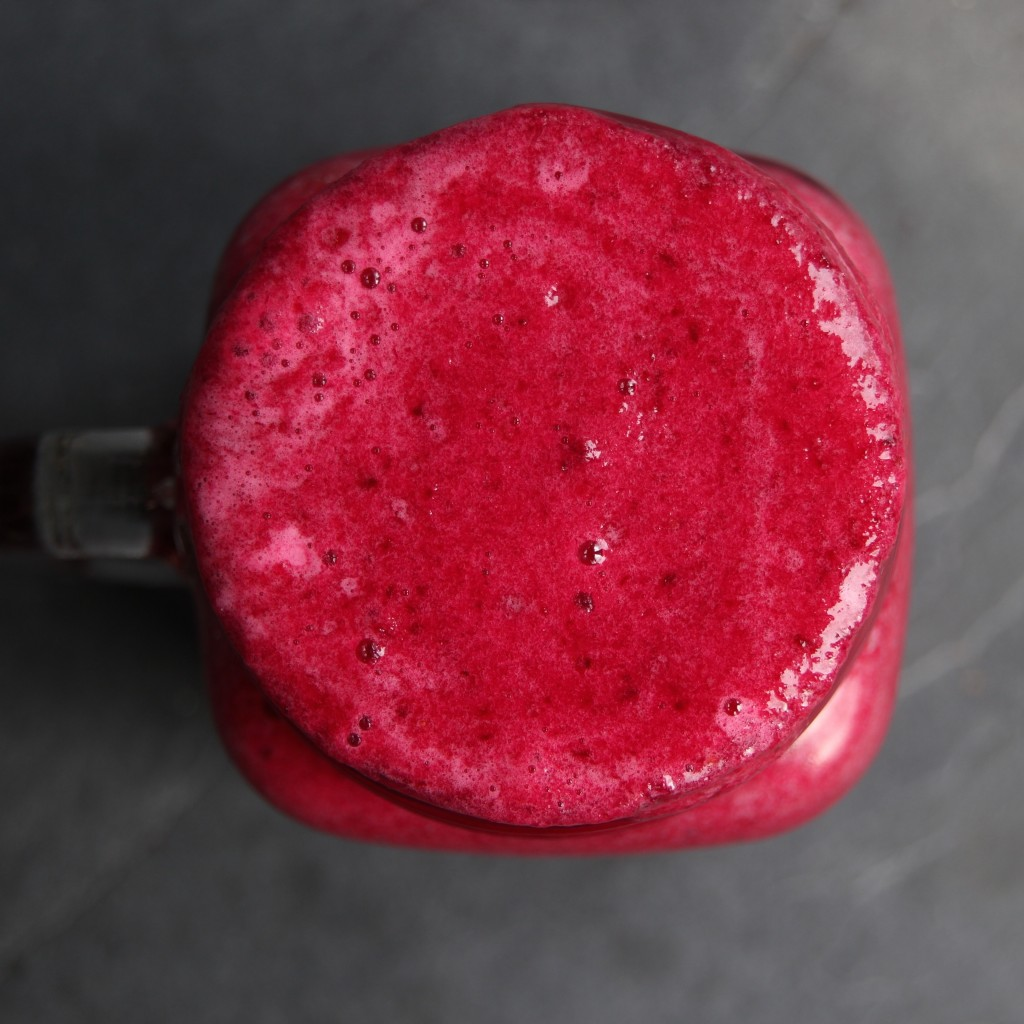 This smoothie is full of substance with just the right amount of earthiness