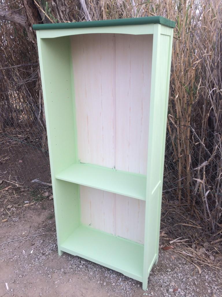 light green shelf