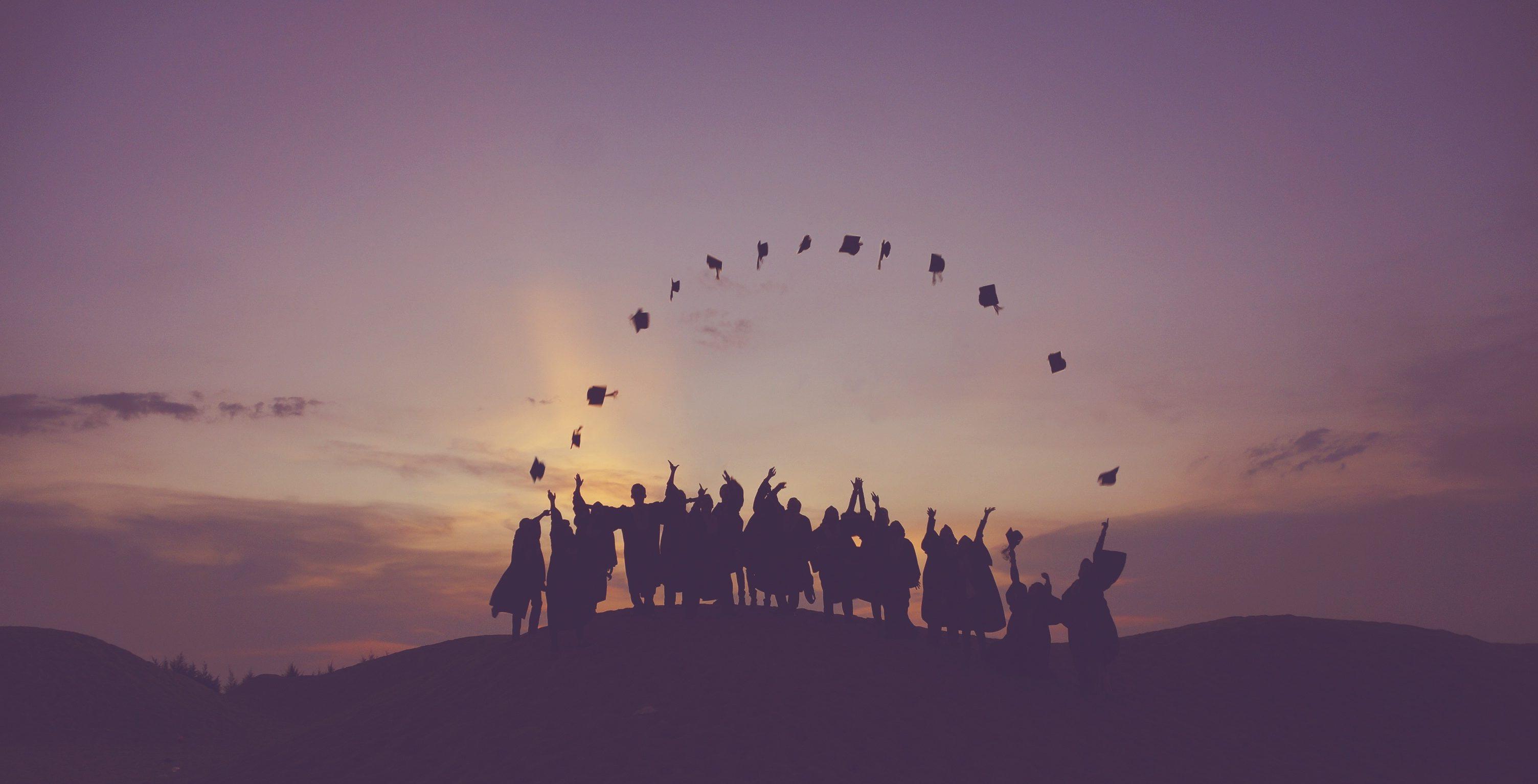 graduation hill field hats graduate