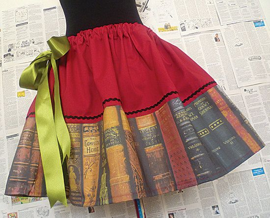 Picture Credits: Geek Clothing Geek Skirts Geek Dresses Book Lovers by RoobyLane, 63.00